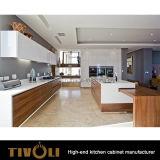 開架デザインTivo-0248hのクルミのベニヤの台所収納キャビネット