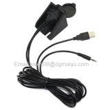 2 tester di USB di lunghezza & supporto aus. di rossoreare di estensione di 3.5mm 6.5 piedi di audio cavo per l'automobile, la barca ed il motociclo