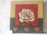 Peinture s'arrêtante de toile décorative de maison de configuration de fleur de pivoine