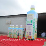 Modèle vif et bouteille gonflable portative de PVC de boisson pour la publicité