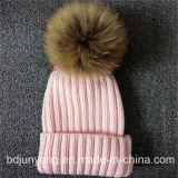 In linea reale Handmade Raccoon Fur POM per cappello lavorato a maglia