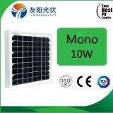 Panneau solaire 10W personnalisé sec pour l'éclairage fabriqué en Chine