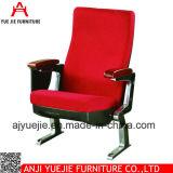 Morden 작풍 빨간 직물 덮개 팔걸이 강당 의자 Yj1211