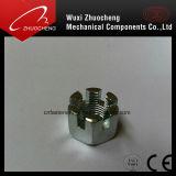 L'écrou crénelé hexagonal en acier au carbone DIN937 DIN979