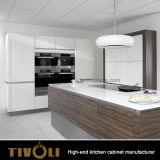 2017 Nueva nogal Mezcla brillante al por mayor blanco armarios de cocina Tivo-0059V