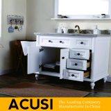 Venda por grosso de madeira maciça de estilo simples americana privada vaidade (SCA1-W55)