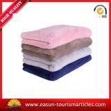Venda por grosso cobertor de lã simples impresso de poliéster Inflight