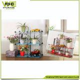 Alambre Cubo de almacenamiento, venta al por mayor del metal Estante con las flores
