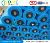 HDPE van het Systeem van de Transportband van de Diameter van 159mm Rollen van de Transportband van de Transportband de Nuttelozere Blauwe