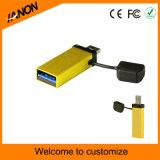 Palillo clásico del USB del mecanismo impulsor OTG del flash del USB del tornado de OTG con su insignia