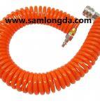 Boyau de bobine de polyuréthane, tuyaux d'air spiralés d'unité centrale pour le système pneumatique