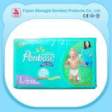 Tipo disponible pañal del pañal del bebé soñoliento de la humedad del bloqueo del surtidor del oro