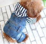Vêtements rayés d'animal familier d'automne et d'hiver de vêtements de flanelle