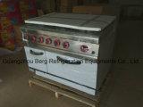Handelsgas-Reichweite mit Ofen mit 6 Brennern