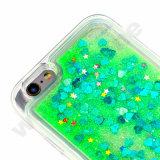 Blingの輝きのきらめきはiPhoneのためのダイナミックな液体の流砂のゆとりの堅い箱を主演する