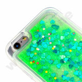 Bling Sparkle Glitter Stars Dynamic arenas movedizas de líquido claro Estuche rígido para el iPhone