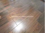 Suelo natural de la madera dura de la nuez negra de la capa ULTRAVIOLETA