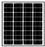 mono painel 60W-75W solar para a luz solar
