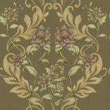 Baumaterial Belüftung-Vinyltief geprägte Damast-Tapete mit Blumen