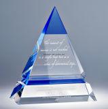 El cristal del claro K9 del diseño del cliente concede el trofeo de la taza de los deportes