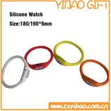 Armband van het Silicone van de Grootte van het Embleem van de douane de Volwassen voor Sport (yB-w-009)