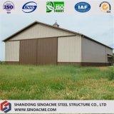 Estructura metálica prefabricada cobertizo de almacenamiento granero