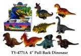 4 Caliente'', tire hacia atrás dinosaurio juguete
