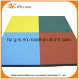 Tuile en caoutchouc de la cour de jeu En71 d'étage en caoutchouc approuvé de couvre-tapis pour l'école