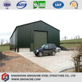 低価格の中国から取除かれる組立て式に作られた鉄骨構造の農場