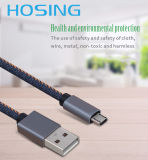 Fábrica OEM Jeans Braided USB Data Cable Design elegante