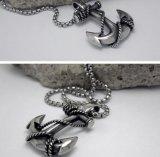 De Juwelen van de Manier van het Roestvrij staal van de Tegenhanger van de Halsband van het anker 316L