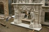 Camino europeo Mfp-040 del marmo del camino del camino della scultura
