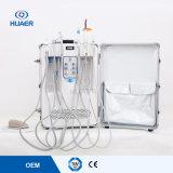 Absinken, das erhältlicher Elektrizitäts-beweglicher Aluminiumlegierung-Stuhl-bewegliches zahnmedizinisches Gerät versendet