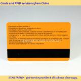 Cartão de presente de plástico com tiragem magnética e impressão de cores completas