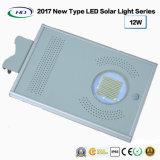 2018 Nouveau type tout-en-un jardin lumière LED solaire 12W