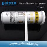 O preço de fábrica por atacado 100strips/Box de Lohand livra o papel de teste do cloro (LH1008)