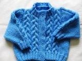 Lado do cabo bebê malha suéter vestido Cardigan Pulôver Vestuário