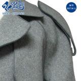 Grey Thermal Turn-Down Collar Moda Long-Sleeve Newstyle Pocket Casaco de moda simples e generoso