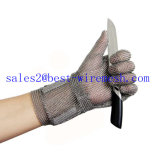 Guante de la seguridad del carnicero de los guantes protectores del acero inoxidable del correo de cadena/guante resistente cortado