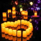 De LEIDENE Lichten van de Thee - Warme Gele Batterij In werking gestelde Realistische LEIDENE Unscented Zonder vlammen van Kaarsen Kaarsen - voor Partijen, Votives, Tealight Houders, Diwali, Halloween