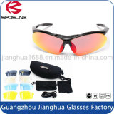 Logotipo personalizado de alta qualidade Printed Sports Glasses Lightweight Tr90 Frames Motorcycle Cycling Riding Sunglasses