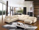 Il sofà di cuoio sezionale con la mobilia di figura di U ha impostato per il sofà dell'angolo della mobilia del salone