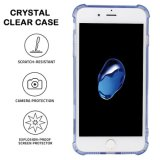 Anti-Scratch Antideslizante Ultra-delgado Flexible parachoques suave TPU transparentes Clear Cover para iPhone 7