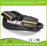 Goldstecker RoHS 21pin Scart Kabel