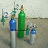 Cilindro de alumínio médico/industrial 9L da venda quente de oxigênio