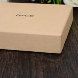 Caixa de presente de papel encantadora personalizada para o logotipo UV de carimbo quente de prata de empacotamento