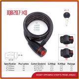 Jq8207-Xq schwarzer Farben-Spirale-Kabel-Verschluss-Fahrrad-Verschluss
