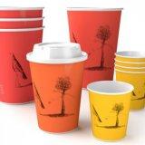Desechables de papel impreso tazas de té
