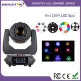 Luz de estágio de cabeça principal de LED de 250W mais pequena