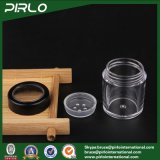 vaso cosmetico di plastica vuoto nero 10g con il contenitore di polvere allentato del setaccio della polvere